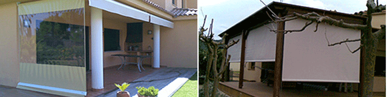 Toldos protecci n solar visual luabi decor for Toldos para lluvia